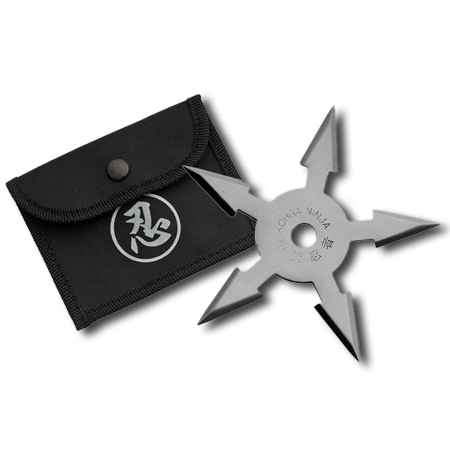 ۵-point-silver-throwing-star